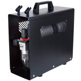 UK-Fengda AS-196A Airbrush mini compressor met luchttank en metalen behuizing_
