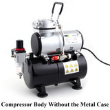 Fengda AS-186A Airbrush mini compressor met luchttank en metalen behuizing_