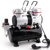 Airbrush mini compressor met luchttank Fengda AS-196_