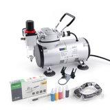 Airbrush Set Fengda FD-18-2K met compressor FD-18-2, Airbrush FE-130 en accessoires_