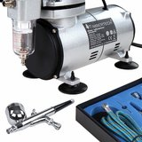 ABPST05 Timbertech airbrush set met compressor en double action airbrush_