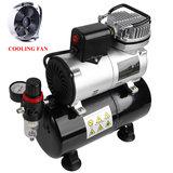 Timbertech ABPST08K airbrush compressor complete set met verbeterde koelventilator mini compressor airbrushpistool en airbrush accessoires_