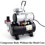 Fengda AS-186A UK Plug Airbrush mini compressor met luchttank _