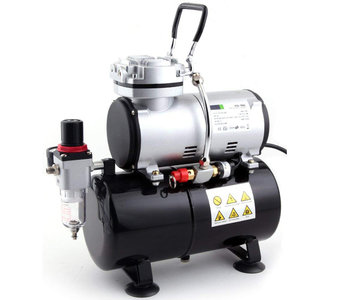 Airbrush mini compressor met luchttank Fengda AS-186