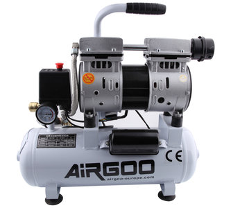 Airgoo AG-10L stille compressor 9 liter - 8 bar - 80 l / min - 3/4 HP