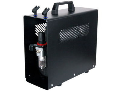 Fengda AS-186A Airbrush mini compressor met luchttank en metalen behuizing